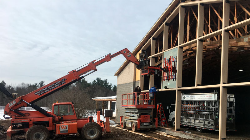Residential Glazing with Telehandler-Mounted Glass Manipulator